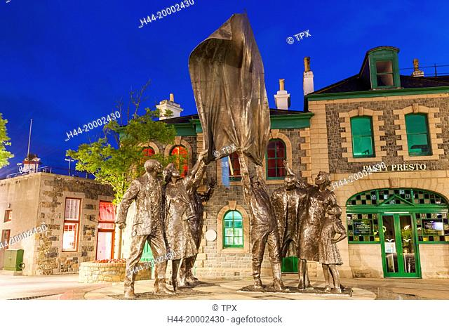 United Kingdom, Channel Islands, Jersey, St. Helier, Liberation Square, The Liberation Statue by Phillip Jackson