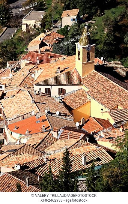 Medieval perched village of Sainte Agnes, Alpes-Maritimes, Côte d'Azur, French Riviera, France