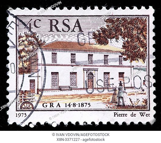 Genootskap van Regte Afrikaners, Association of True Afrikaners, Gideon Malherbe, Paarl, GRA, postage stamp, South Africa, 1975