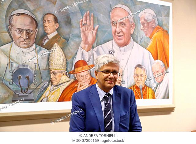 Italian writer Andrea Tornielli, editorial director of the Dicastery for Communications of the Holy See, italian cardinal and Prefect emeritus of the...