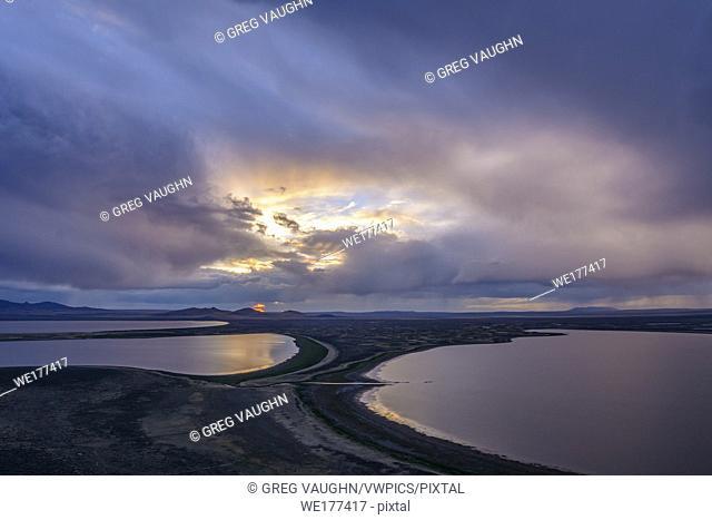 Warner Wetlands from Warner Valley Overlook at Hart Mountain National Antelope Refuge, eastern Oregon