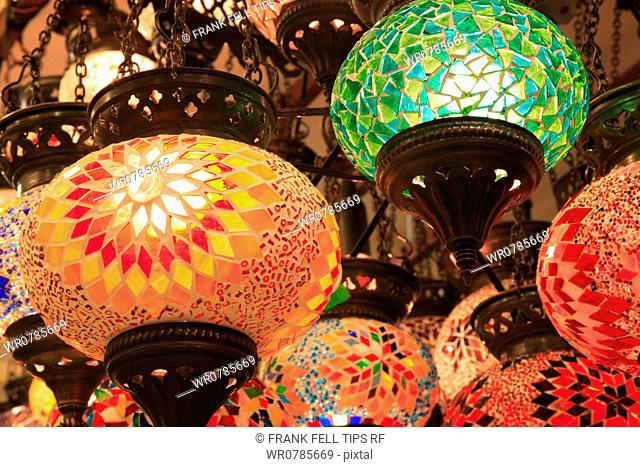 Turkey. Colorful lamps
