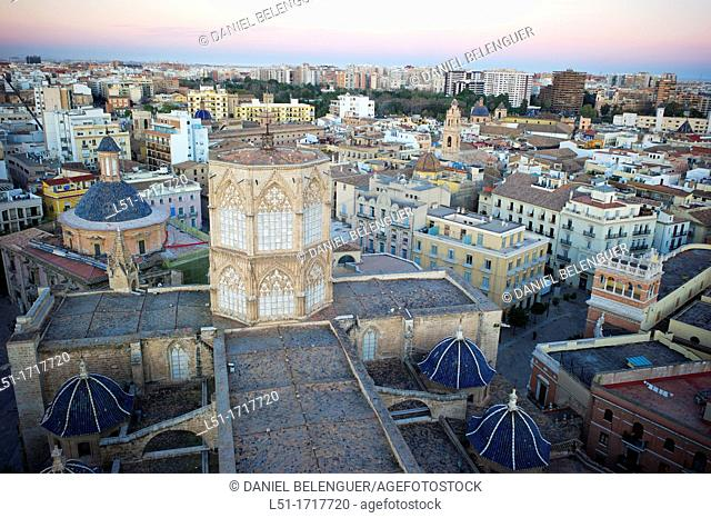 Valencia city from El Miguelete tower, Valencia, city, Valencia, Spain