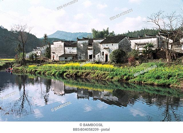 Yan Village built in Song dynasty, Yancun Village, Wuyuan County, Jiangxi Province of People's Republic of China