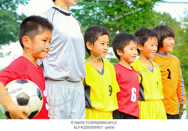 Japanese kids playing soccer