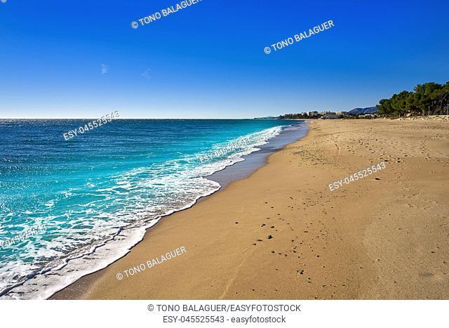 Platja Casa dels LLadres beach playa in Mont-Roig del Camp of Tarragona at Costa Dorada of Catalonia