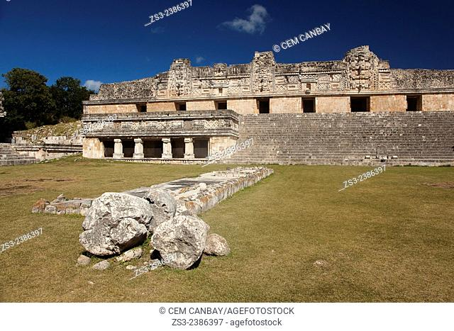 Quadrangle Of The Nuns, Uxmal Ruins, Yucatan Province, Mexico, Central America