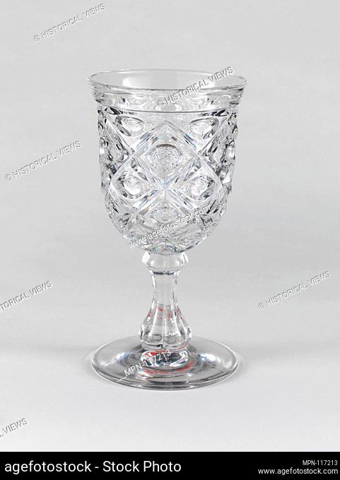 Goblet. Date: 1850-60; Geography: Probably made in Pittsburgh, Pennsylvania, United States; Culture: American; Medium: Pressed glass
