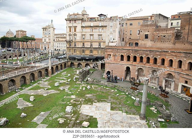 Museum of the Imperial Fora Trajan's Market in Rome on February 8, 2017 in Italy