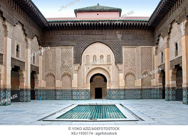 Morocco, Marrakech, Ben Youssef madrasa, Koranic school