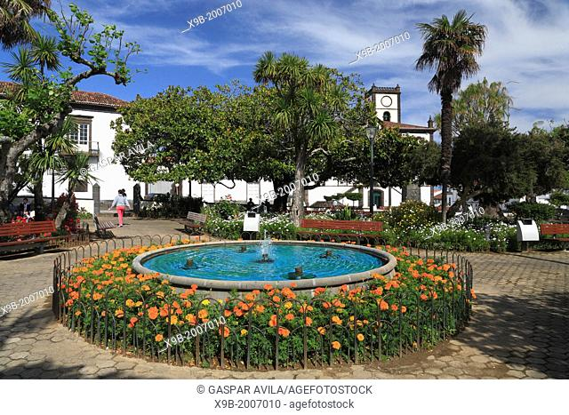 Small park in the town of Vila Franca do Campo. Sao Miguel, Azores islands, Portugal
