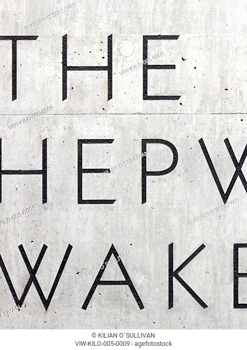 The Hepworth Wakefield, David Chipperfield Architects, Wakefield, 2011, Exterior detail of signage