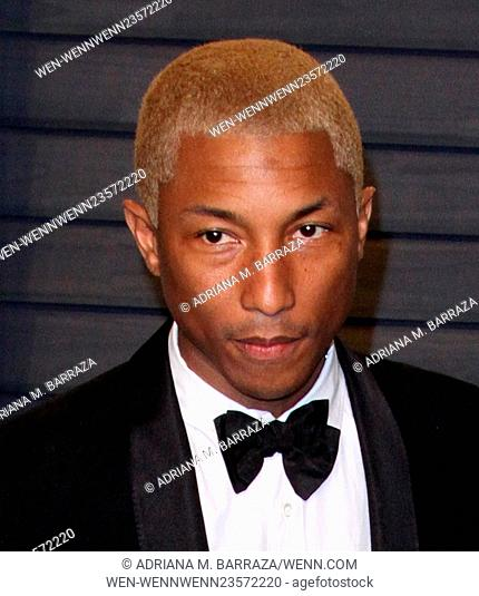 Vanity Fair Oscar Party at Wallis Annenberg Center for Performing Arts - Arrivals Featuring: Pharrell William Where: Los Angeles, California