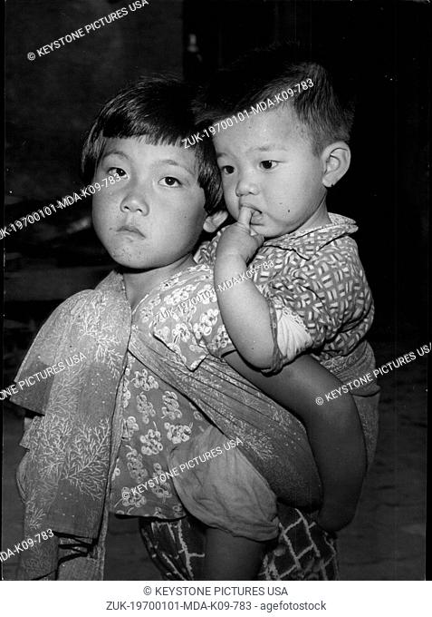 Jan. 1, 1970 - Doubtful Future: Two pensive Quemoy children rendered orphan through the Communist attack. (Credit Image: © Keystone Press Agency/Keystone USA...