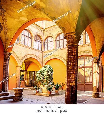 Courtyard in Bologna, Emilia-Romagna, Italy