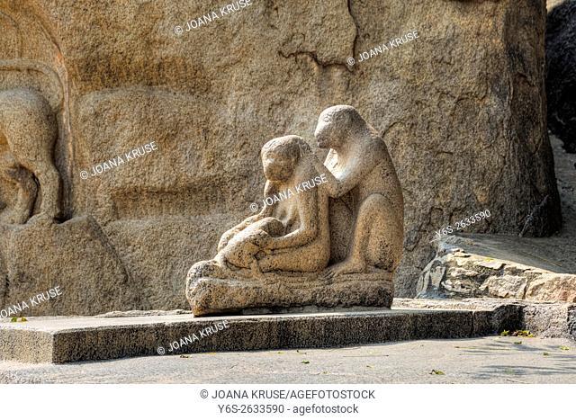 Monkey Statue, Mahabalipuram, Tamil Nadu, India