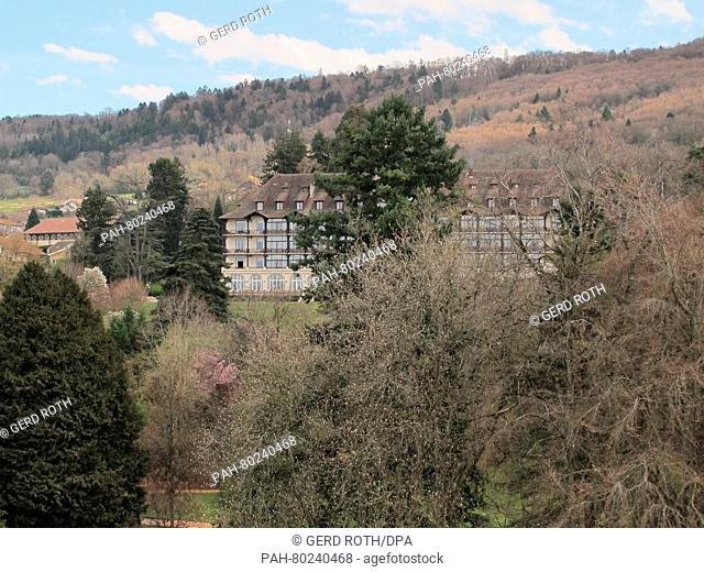 View of the four-star hotel Ermitage in Evian-les-Bains, France, 30 March 2016. The German Football Association (DFB)has picked the quiet town on the French...