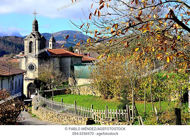 Church of Ubide, Biscay province, Basque Country, Spain
