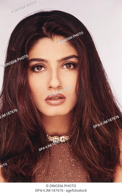 2002, Portrait of Indian film actress Raveena Tandon