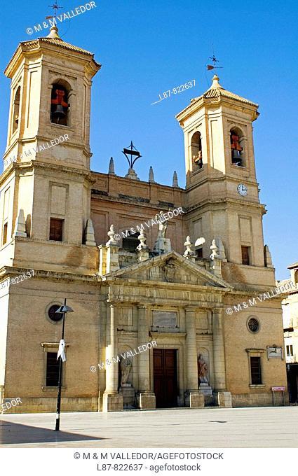 Parish church, XVIIIth century  Antigua Colegiata de la Encarnacion  Plaza de España  Santa Fe  Granada province  Andalucia  Spain