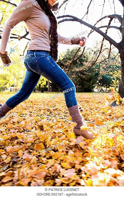 Woman energy autumn nature