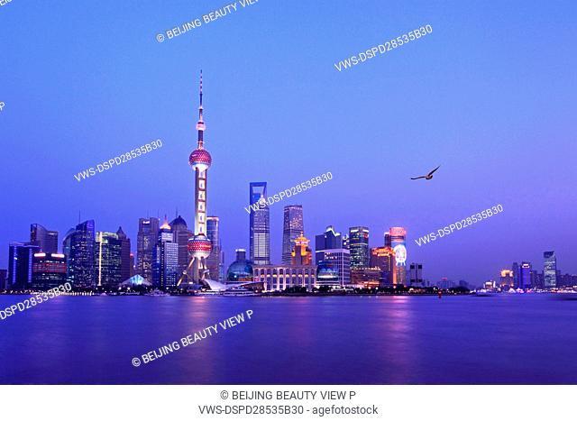 Night view of Shanghai,China