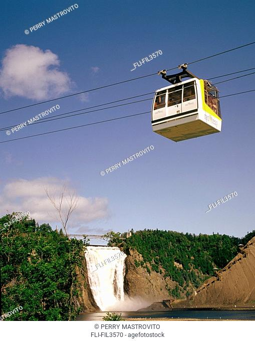 Cable Car over Montmorency Falls, Beauport, Quebec