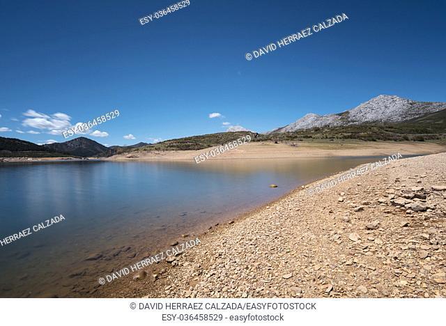 Day long exposure of Lake camporredondo in Palencia, Castilla y León, Spain