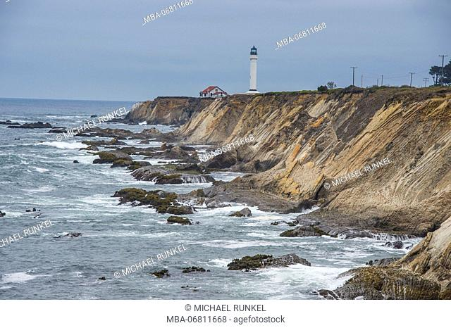 Point Arena Lighthouse and Museum, Northern California, USA