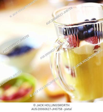 Mango shake in an electric mixer