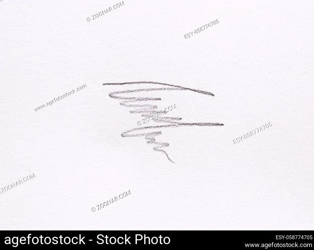 multiple linear pencil scratches on blank paper surface