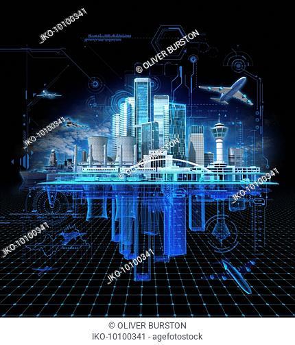 Blueprint design for modern urban development