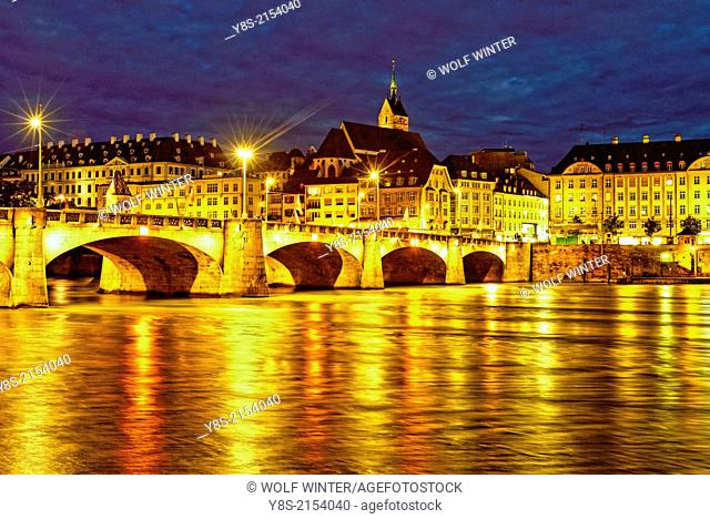 Middle Bridge, downtown Basle, Switzerland