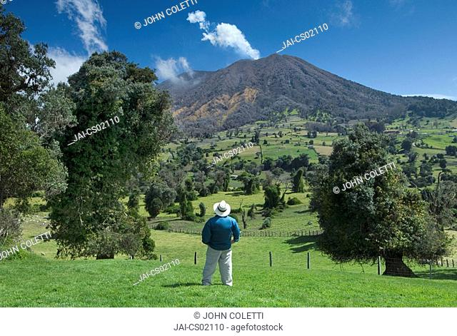 Costa Rica, Turrialba Volcano, Fumarolic Activity, Fumaroles, Steam, Gas, Active, Mountain Tropical Cloud Forest, Tourist MR