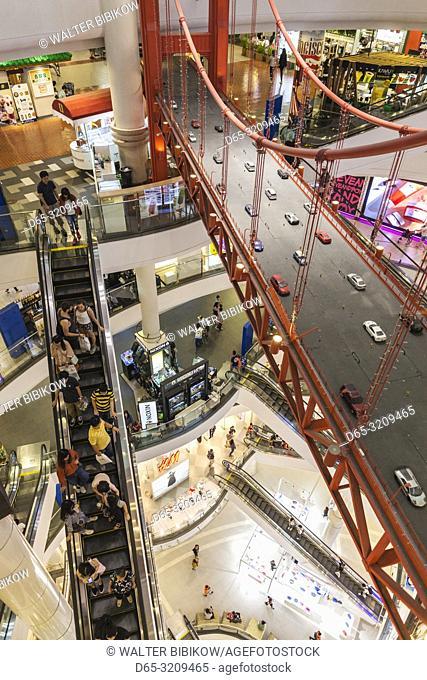Thailand, Bangkok, Sukhumvit Area, Terminal 21 shopping mall, world themed mall, Golden Gate Bridge in food court