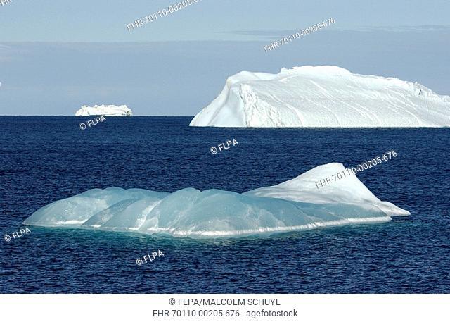 Icebergs - Blue iceberg, Ross Sea, Antarctica