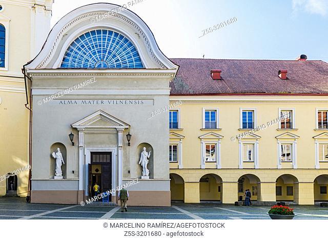Facade detail in the Grand Courtyard of Vilnius University. Vilnius, Vilnius County, Lithuania, Baltic states, Europe