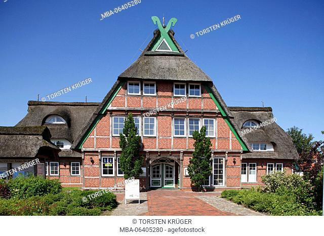 Half-timbered house Deichschlösschen (house), Dorum-Neufeld, Dorum, Lower Saxony, Germany, Europe