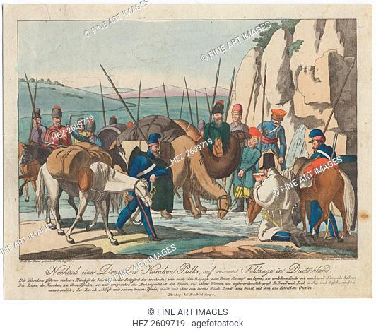 Don Cossacks resting in Germany, ca 1814. Artist: Geissler, Christian Gottfried Heinrich (1770-1844)