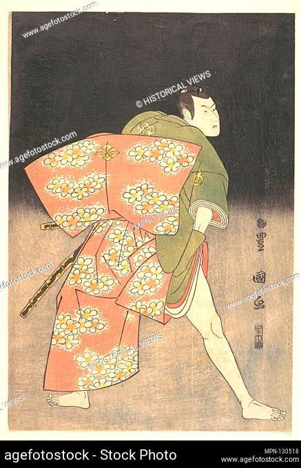 Bando Minosuke (Mitsugoro III) in the Role of a Young Samurai. Artist: Utagawa Toyokuni I (Japanese, 1769-1825); Period: Edo period (1615-1868); Date: 1796;...
