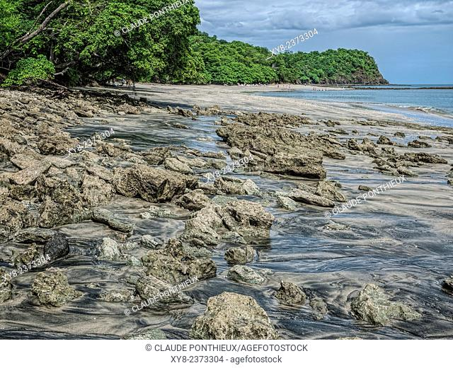 Volcanic rocks on beach,Guanacaste, Costa-Rica