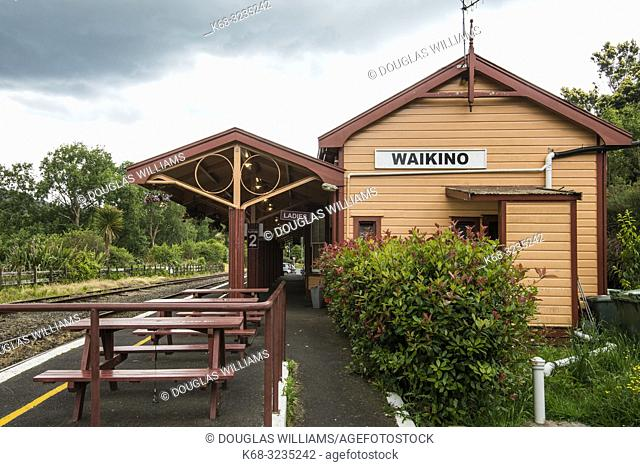 Waikino Station on the Hauraki Rail Trail, bicycling path on the north island in New Zealand