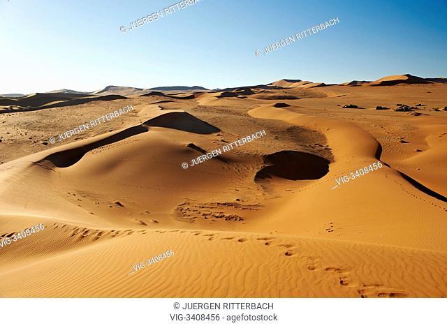 desert Landscape of Namib at Sossusvlei, Namib-Naukluft National Park, Namibia, Africa - Namib-Naukluft National Park, Namibia, 20/02/2011
