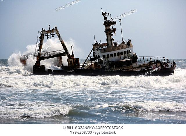 Shipwreck on Skeleton Coast - North of Swakopmund, Namibia, Africa