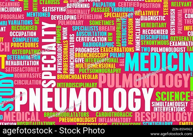 Pneumology or Pneumologist Medical Field Specialty As Art