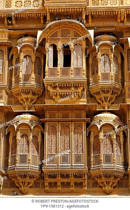 Haveli inside Jaisalmer Fort, Jaisalmer, Rajasthan, India