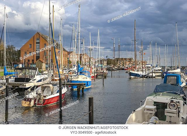 Harbor in Orth, Fehmarn, Baltic Sea, Schleswig-Holstein, Germany, Europe