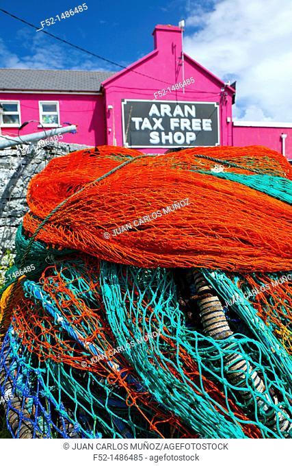 Kilronan Village  Inishmore Island, Aran Islands, Galway County, West Ireland, Europe