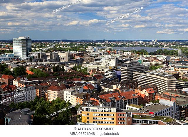 View from Michel on the city of Hamburg