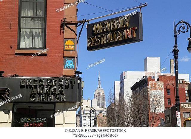 Waverly Diner, Greenwich Village, Manhattan, New York, New York, United States, North America